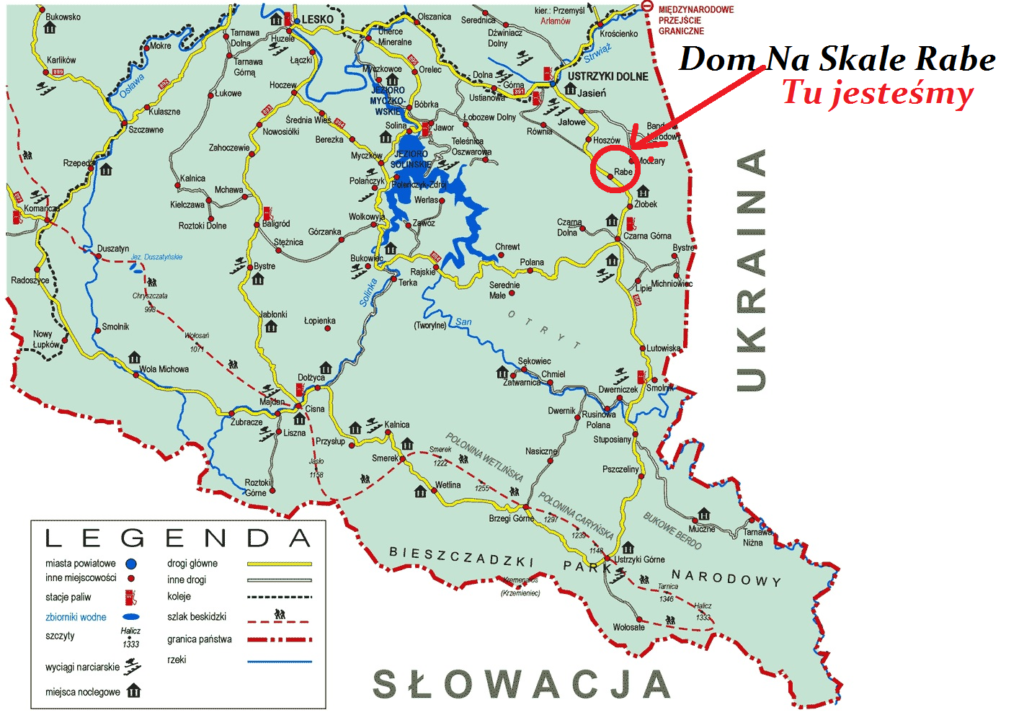 Bieszczady Dom Na Skale 1 1024x728 - Lokalizacja