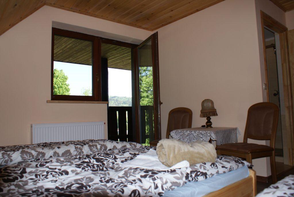 Pokój z balkonem Dom na skale 1024x685 - Dom Na Skale Rabe