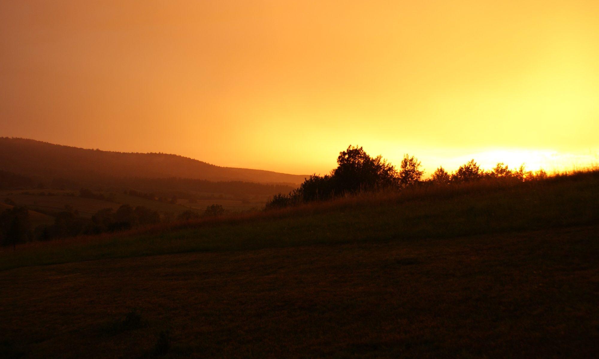 Zachód Słońca Bieszczady